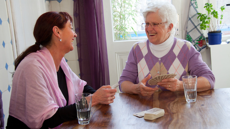 Dementia tip - playing cards helps keep patient engaged